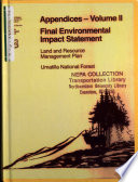 Umatilla National Forest (N.F.), Land and Resource(s) Management Plan (LRMP) (WA,OR)