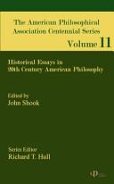 American Philosophical Association Centennial Series
