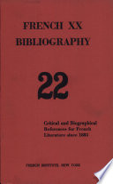 French Xx Bibliography 22 Volume 5 Number 2 Issue No. 22