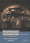 Rock Mechanics and Engineering  Excavation  Support and Monitoring