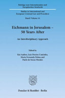 Eichmann in Jerusalem   50 Years After