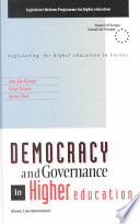 Democracy and Governance in Higher Education Book PDF