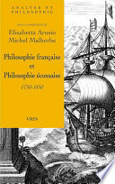 Philosophie française et philosophie écossaise 1750-1850