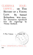Clarissa Or The History Of A Young Lady book