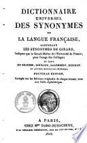 Dictionnaire universel des synonymes de la langue fran  aise0