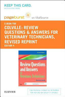 Review Questions and Answers for Veterinary Technicians Pageburst E book on Vitalsource Retail Access Card