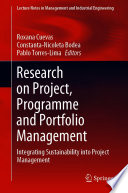 Research on Project  Programme and Portfolio Management Book PDF
