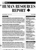 BNA Human Resources Report
