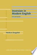 Inversion in Modern English