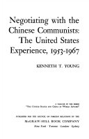 Negotiating With The Chinese Communists book