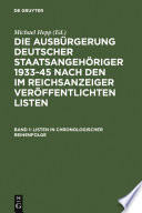 Listen in chronologischer Reihenfolge   Lists in chronological order