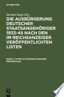 Listen in chronologischer Reihenfolge / Lists in chronological order