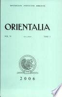 Oeientalia Vol.75