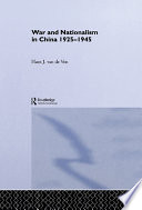 War And Nationalism In China 1925 1945