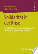 Solidarität in der Krise