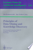 Principles Of Data Mining And Knowledge Discovery : symposium on principles of data...