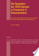 Die Rezeption der DDR-Literatur in Frankreich II