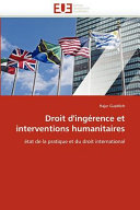 Droit D Ing Rence Et Interventions Humanitaires
