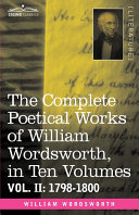download ebook the complete poetical works of william wordsworth, 1798-1800 pdf epub