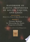 Handbook of Elastic Properties of Solids  Liquids  and Gases  Four Volume Set