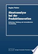 Absatzanalyse bei der Produktinnovation