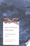 Kant and Political Philosophy
