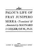 Life of Fray Jun  pero Serra