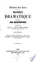 Bibliotheque Dramatique De Monsieur De Soleinne