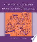 Children s Learning From Educational Television