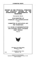 Report On The Financial Operating And Political Affairs Of The International Brotherhood Of Teamsters