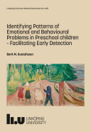 Identifying Patterns of Emotional and Behavioural Problems in Preschool children