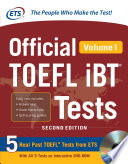 Official TOEFL iBT   Tests Volume 1  2nd Edition