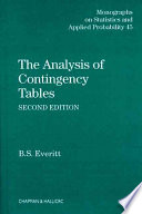 The Analysis of Contingency Tables  Second Edition