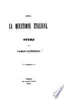 Sopra La Questione Italiana Studj