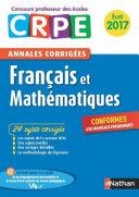 Ebook   Annales CRPE 2017   Fran  ais Math  matiques