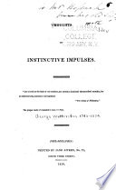 Thoughts On Instinctive Impulses ... : ...