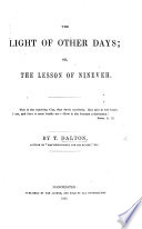 The Light of Other Days  Or  the Lesson of Nineveh Book PDF