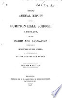 Second Annual Report Of Dumpton Hall School For The Board And Education Of The Sons Of Ministers Of The Gospel Etc