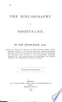 The Bibliography of Shorthand