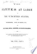 The Statutes at Large  the United States from