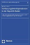 Verfassungsinterdependenzen in der Republik Baden