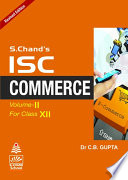 ISC Commerce Class XII  Vol Ii