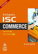 ISC Commerce Class-XII (Vol.Ii) Book