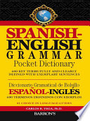 Spanish English Grammar Pocket Dictionary