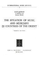 Musique Et Sa Communication  La Situation de la Musique Et Des Musiciens Dans Les Pays D Orient