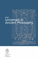 Universals in Ancient Philosophy