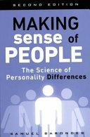 Making Sense Of People book