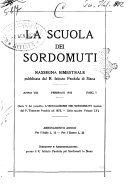 La scuola dei sordomuti rassegna bimestrale pubblicata dal R  Istituto Pendola di Siena