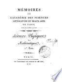Mémoires de l'Academie des sciences littérature et beaux-arts de Turin. Sciences physiques et mathematiques