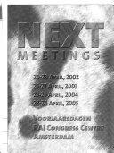 Scientific Proceedings Voorjaarsdagen 2001 Editors Roswitha Van De Sandt Jolle Kirpensteijn